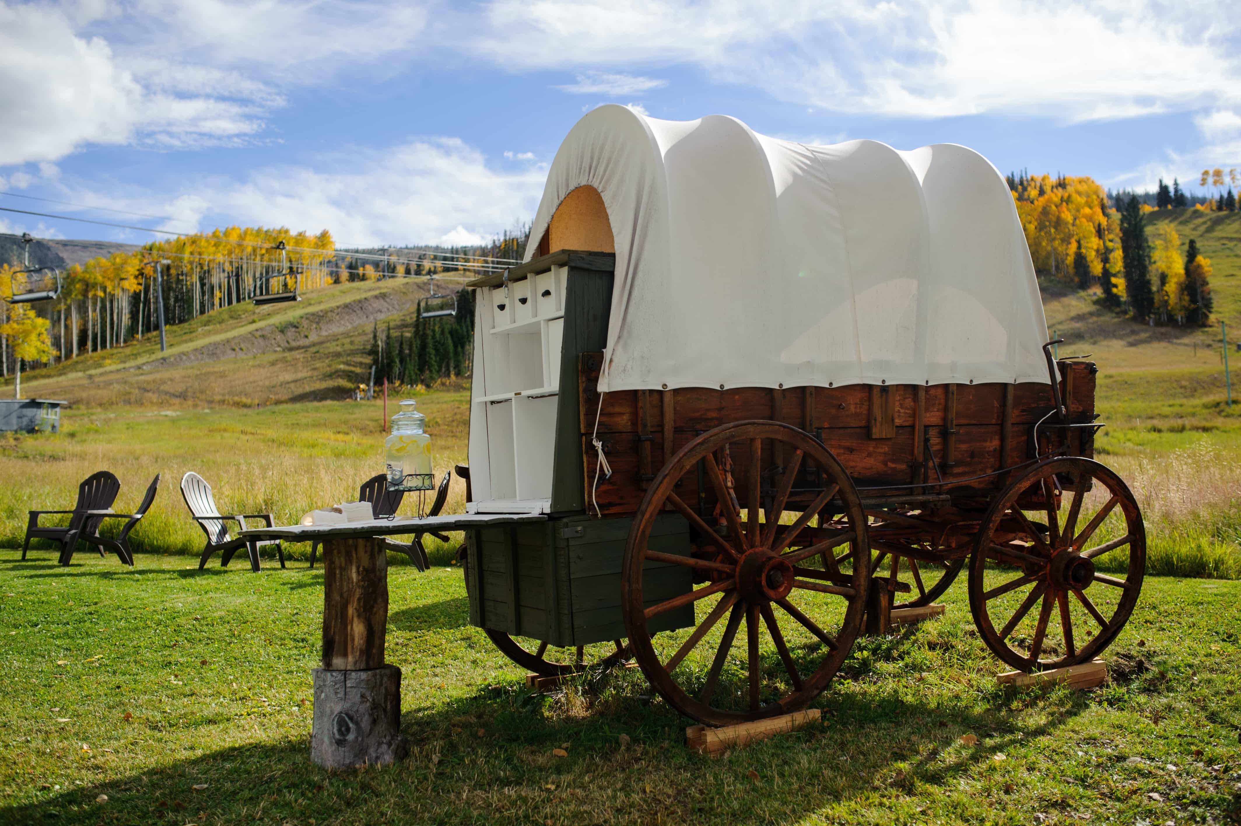 Wagon bar site at Lynn Britt Cabon on Snowmass Mountain