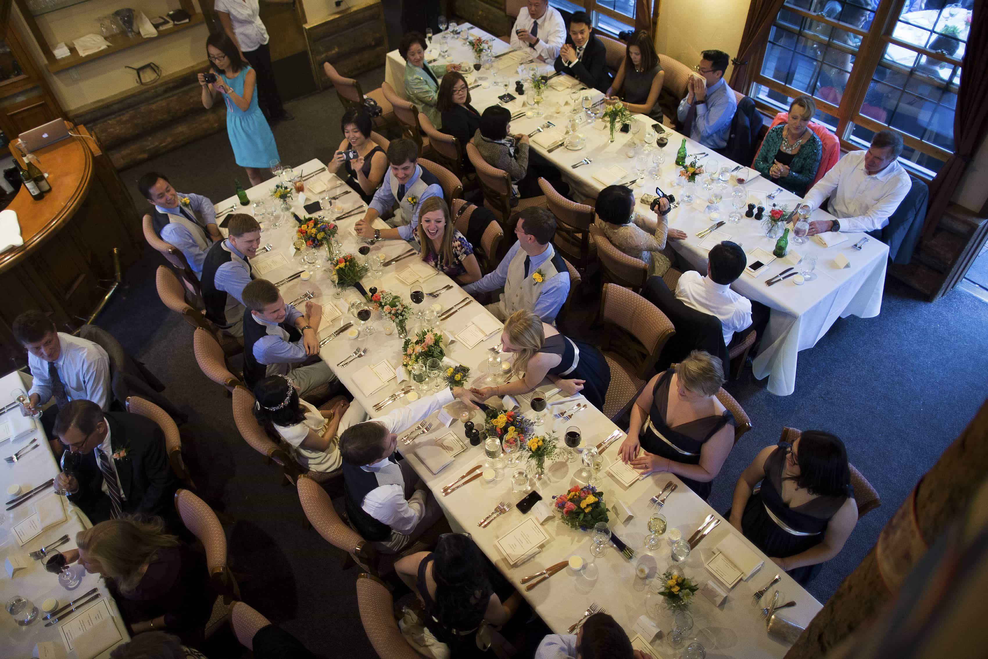 Wedding reception at Lynn Britt Cabin