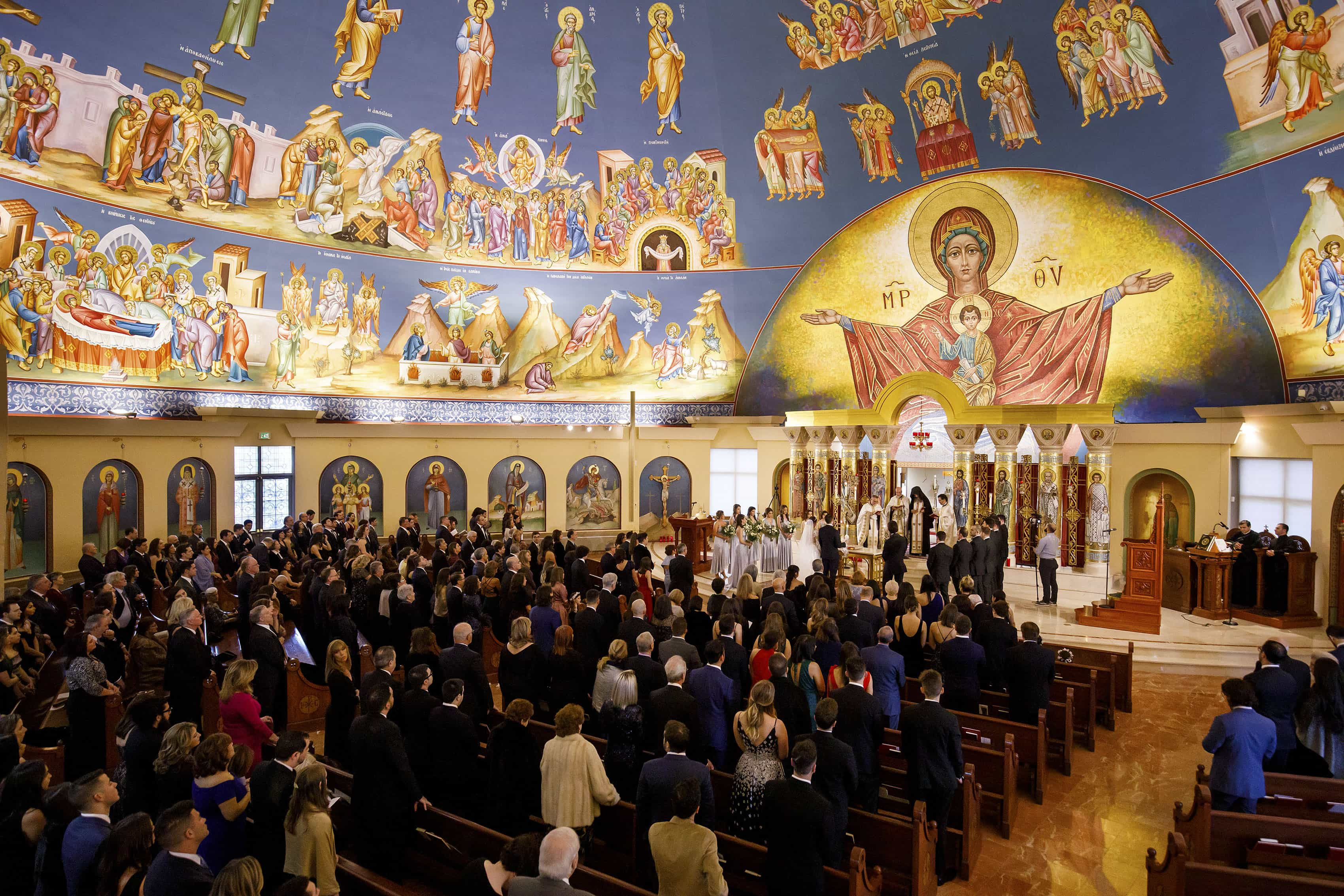 Ioanna and Alex's wedding ceremony at Assumption of the Theotokos Greek Orthodox Cathedral