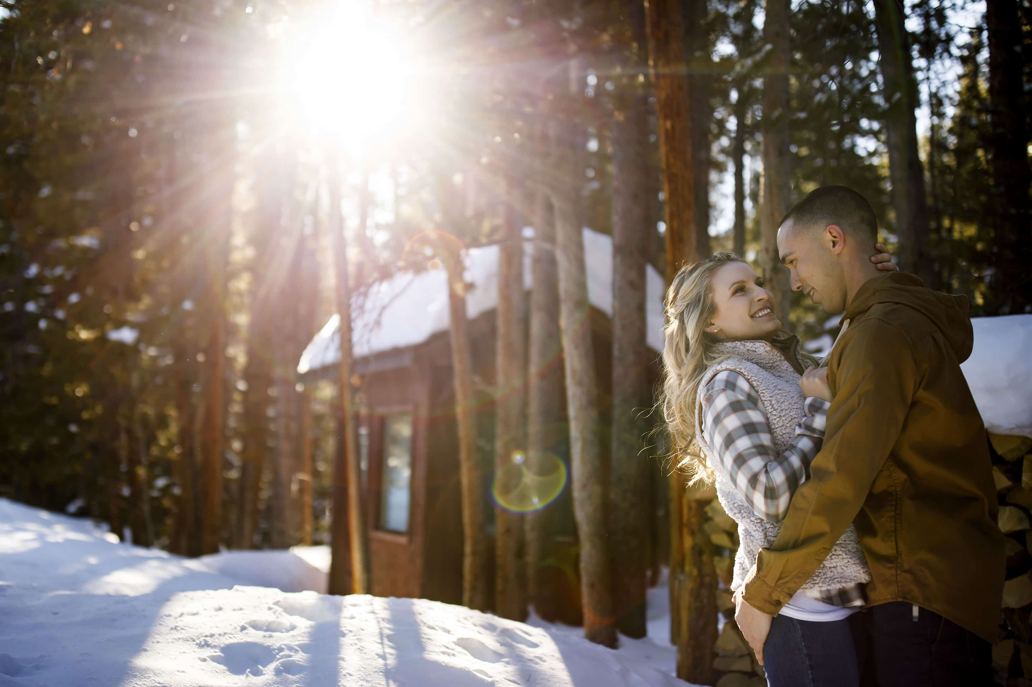 Winter engagement in Breckenridge | Cassidy and Shane