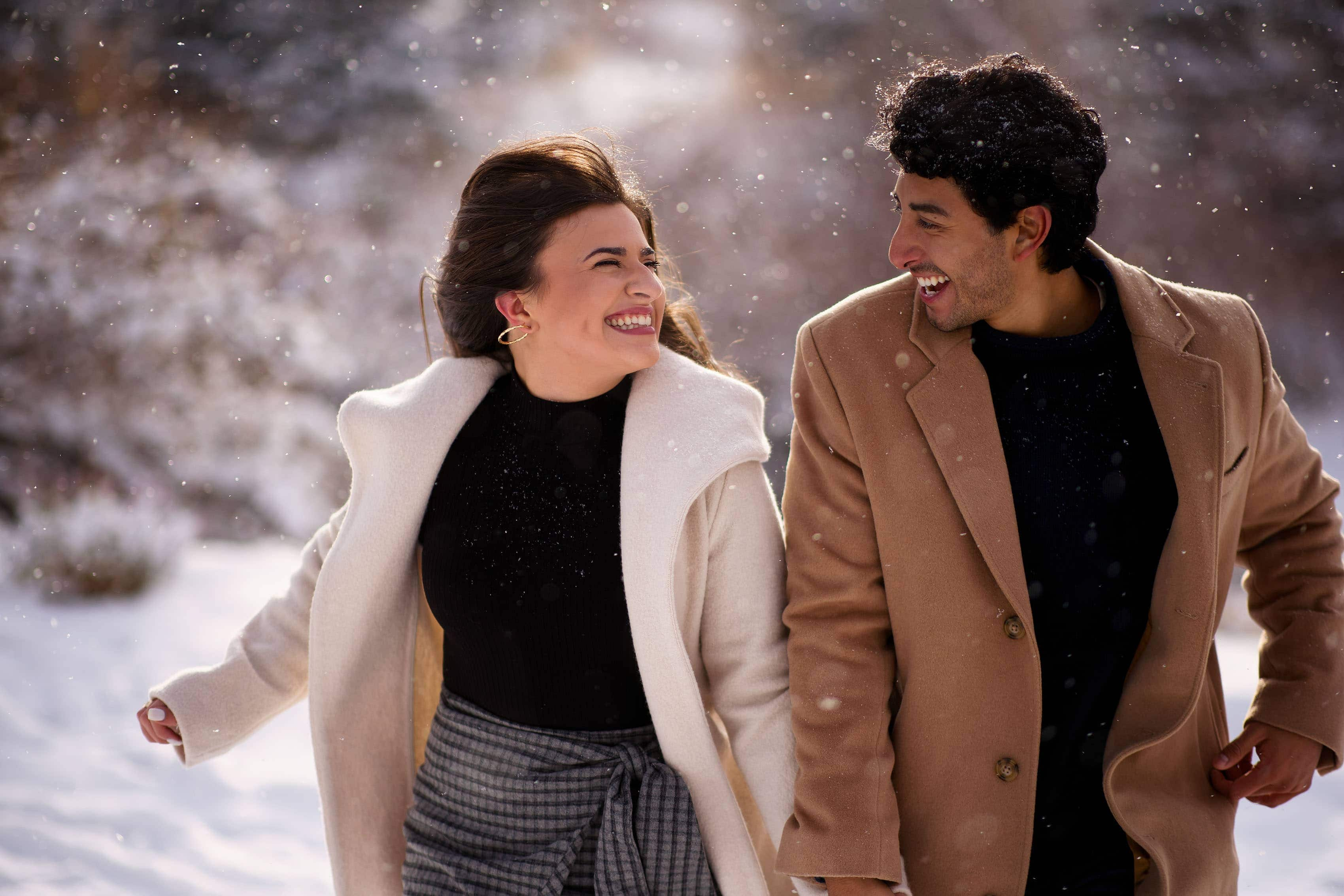 Winter Wonderland Engagement in Breckenridge | Kooper & Raul