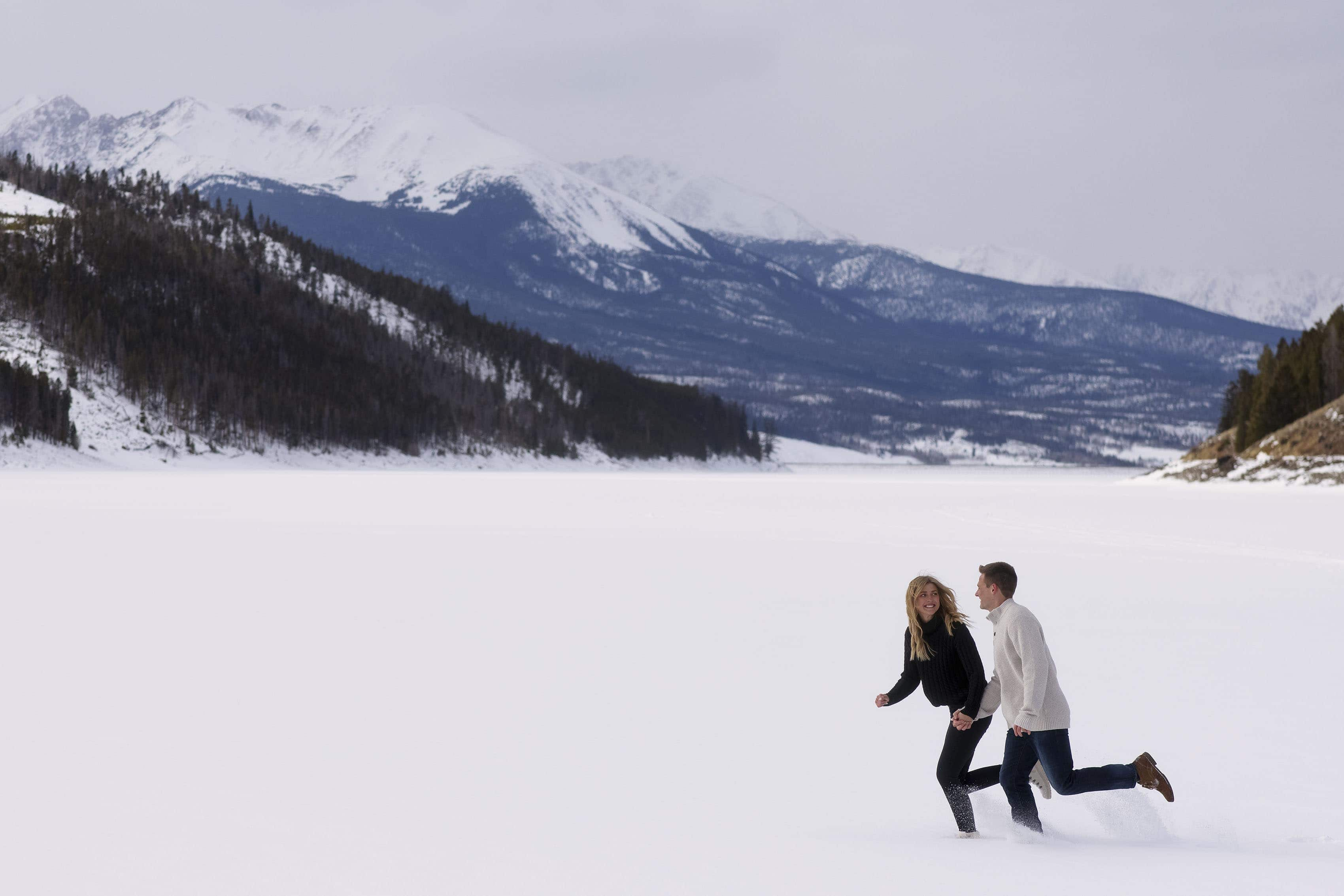 Winter Engagement in Dillon, CO | Kayla & Scott